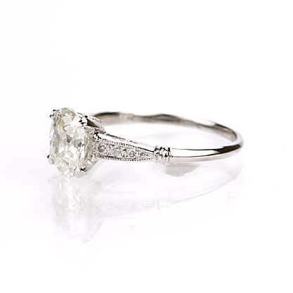 Leigh Jay Nacht Inc. - Replica Art Deco Engagement Ring - 3082-11