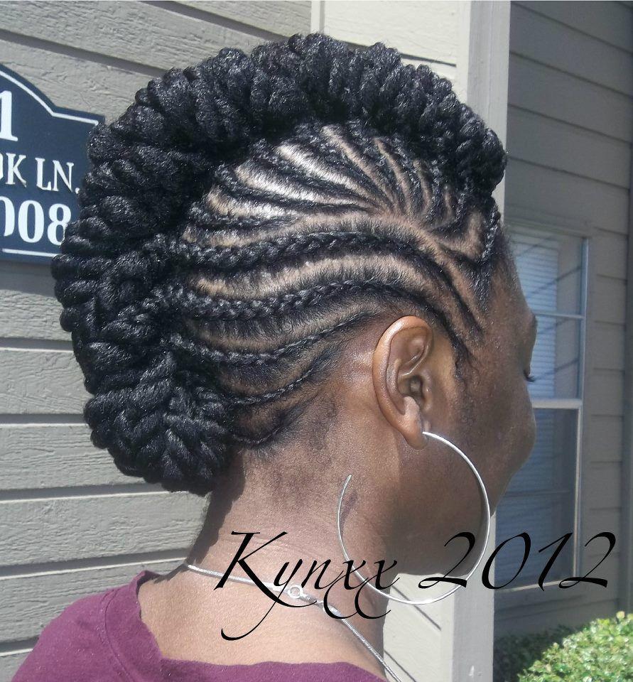 Cute mohawk style locs coils braids and twists i pinterest