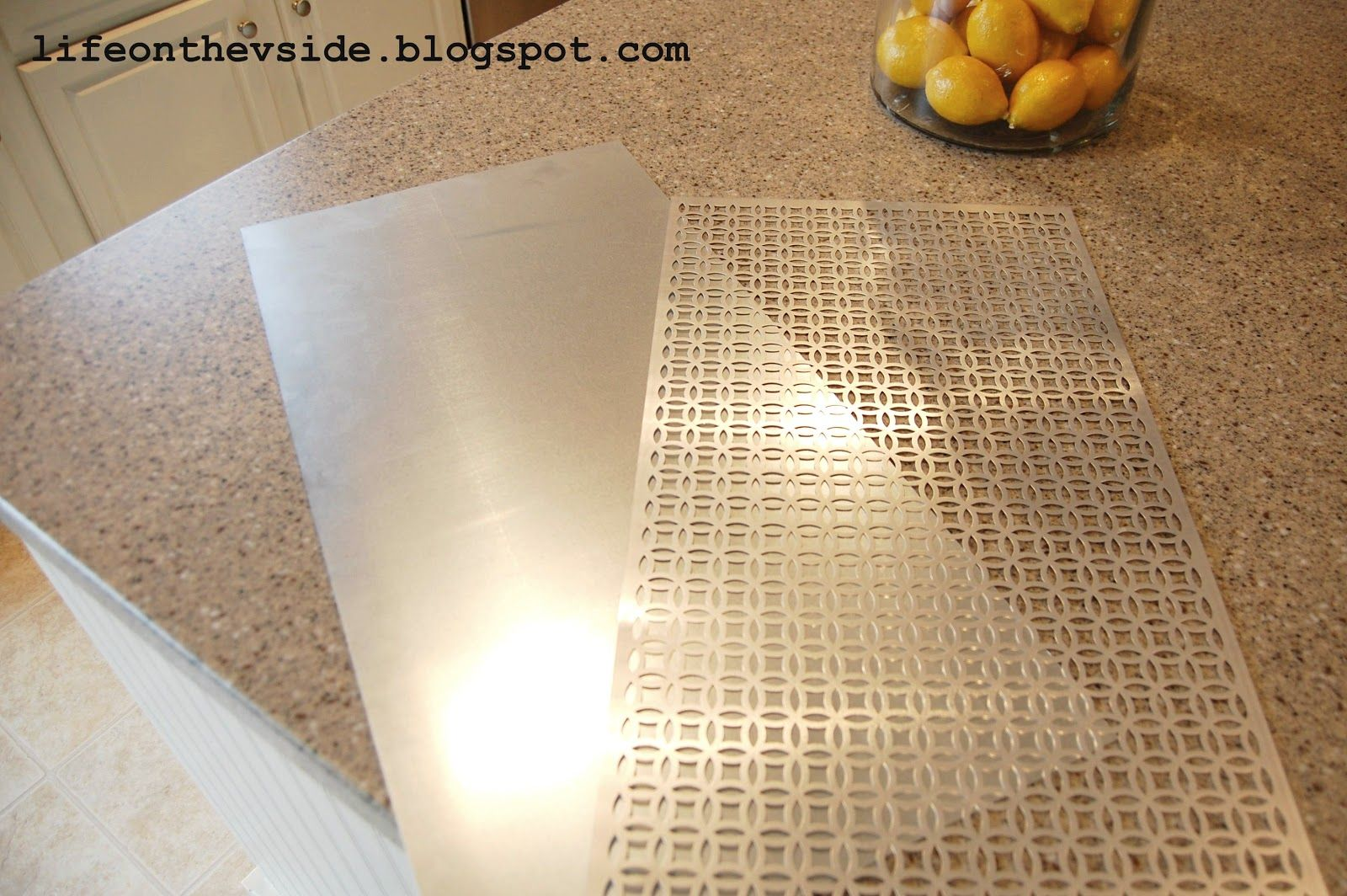 On the v side kitchen cabinet magnet board tutorial landing pad