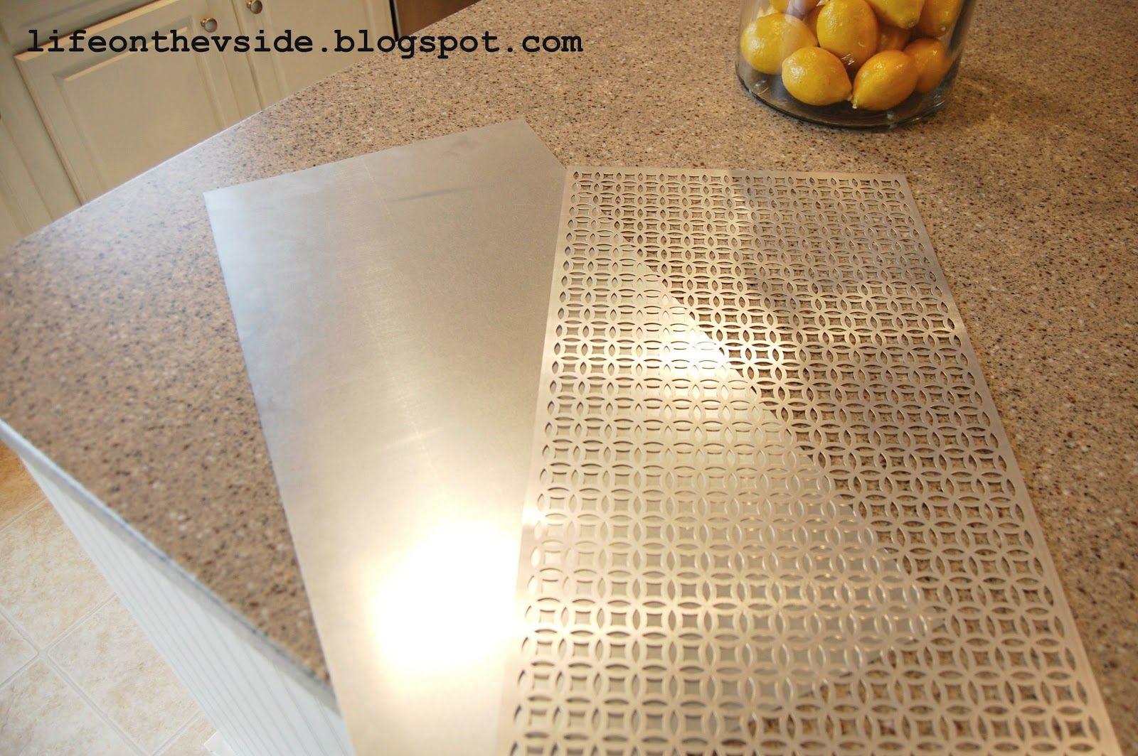 On the v side kitchen cabinet magnet board tutorial landing pad