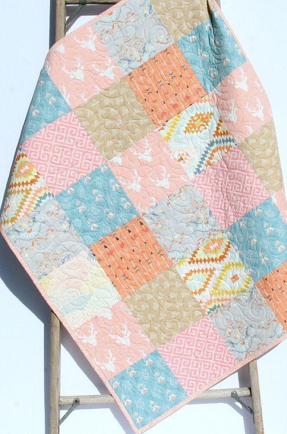Baby Bedding Blanket Boho Crib Deer Fawn Gifts