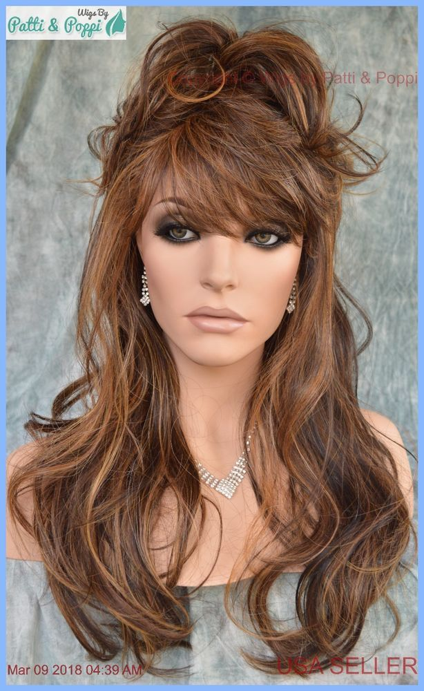 Seduction Wig By Revlon Wigs New Style Color Sepia Brown With Highlights Revlon Layered Long Hair Styles Hair Styles Revlon Wigs