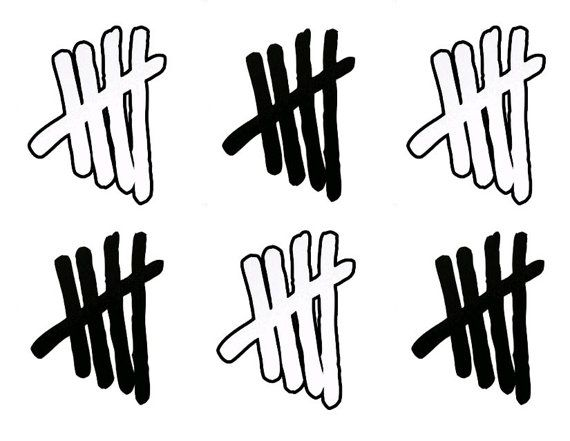NEW - 5SOS Tally Mark Temporary Tattoos - Shipping on HOLD until 7/15 on Etsy, $4.00