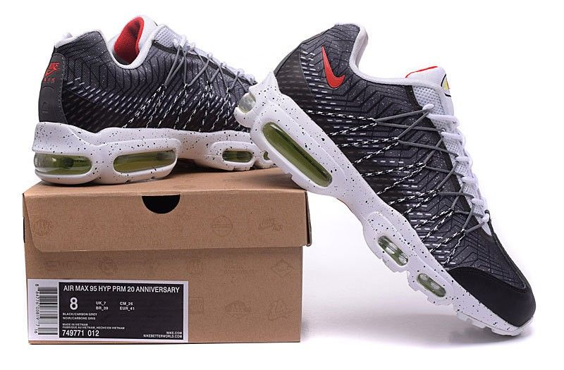 first rate 2e983 9ef81 Nike Air Max 95 20th anniversary 749771-013 Mens Womans Running Shoes Grey  Black