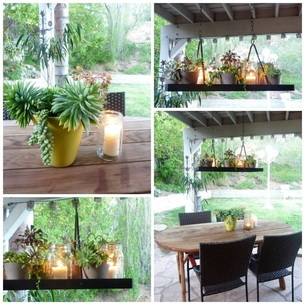 Plant chandelier like this under my porch gazebo outdoor thing 28 outdoor lighting diys to brighten up your summer