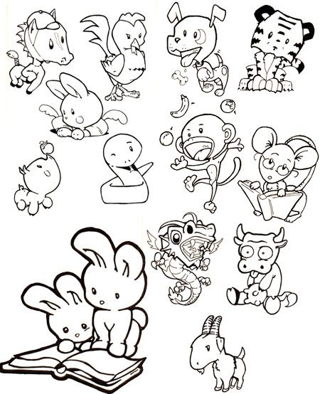 Cute Chinese Zodiac Animals By Officemonkeyking On DeviantArt