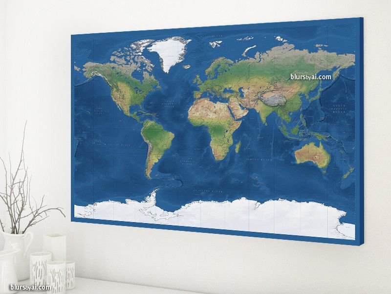Physical world map canvas print with countries and states labelled physical world map canvas print with countries and states labelled large 48x32 gumiabroncs Choice Image