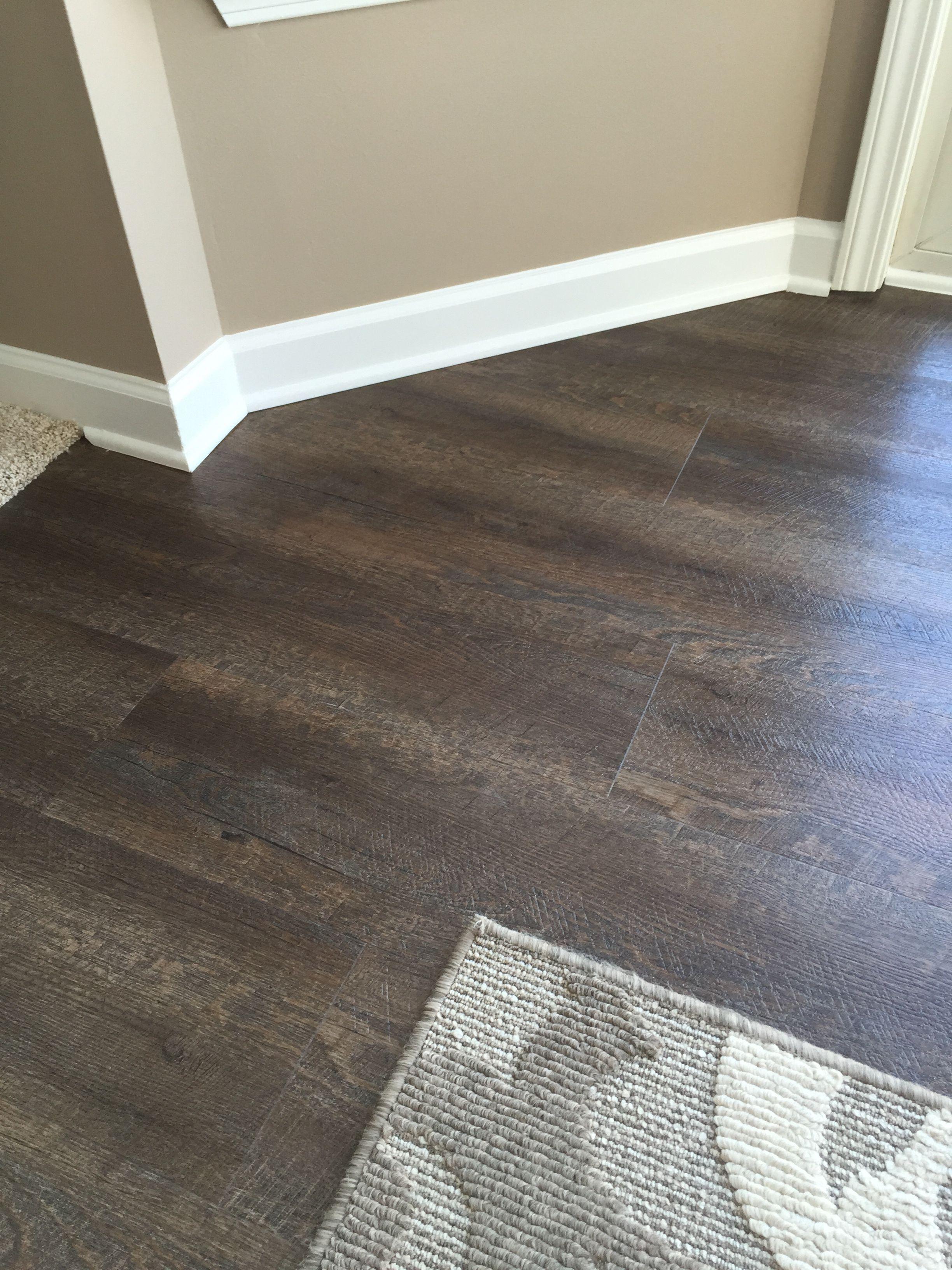 Home Depot Kitchen Flooring Kitchens With Granite Countertops Trafficmaster Allure Sawcut Dakota Vinyl Planks