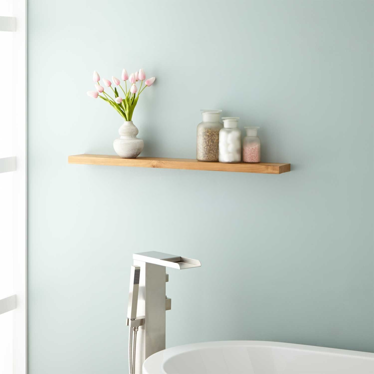 Wulan Teak Shelf | Teak, Bathroom accessories and Shelves
