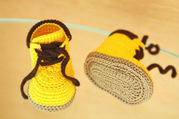 PDF Crochet Pattern. Dies ist ein Muster für Gehäkelte Baby Booties ...