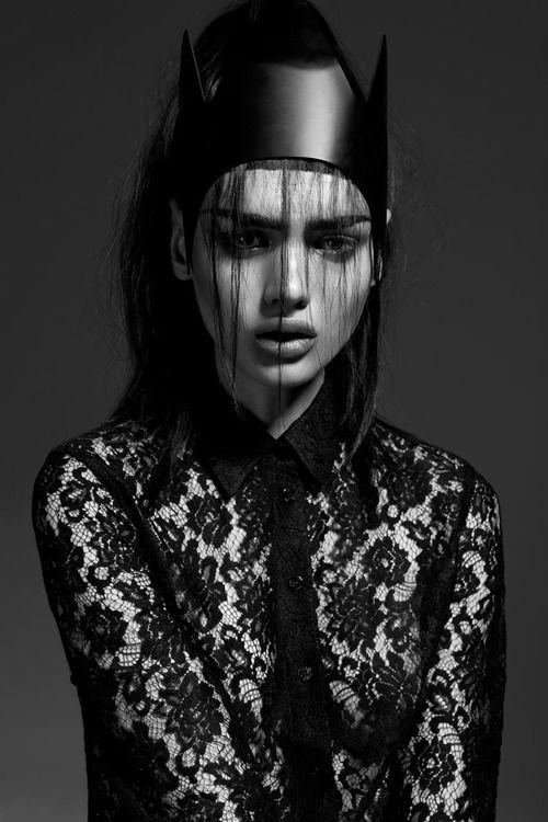 photography Black and White fashion lace beautiful gorgeous Model dark  portrait f Alternative dark fashion lina tesch strangelycompelling Paulina  Gier Dark ...