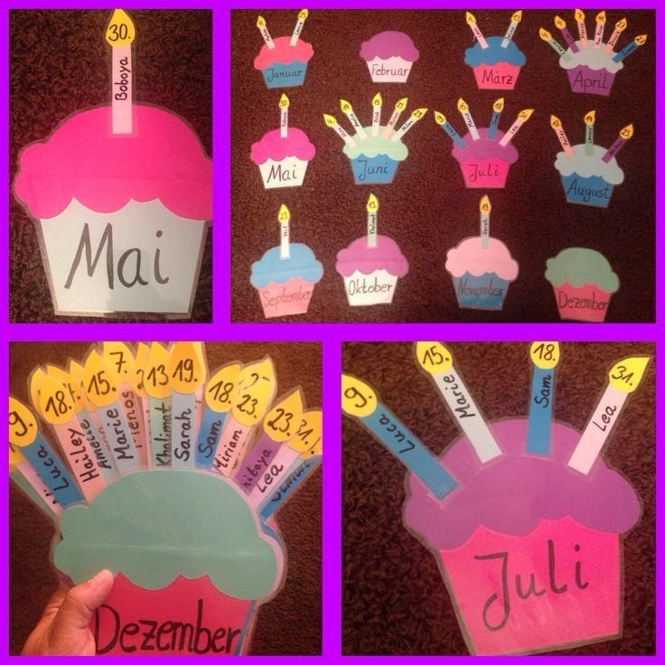 Geburtstagskalender für den Klassenraum Schule