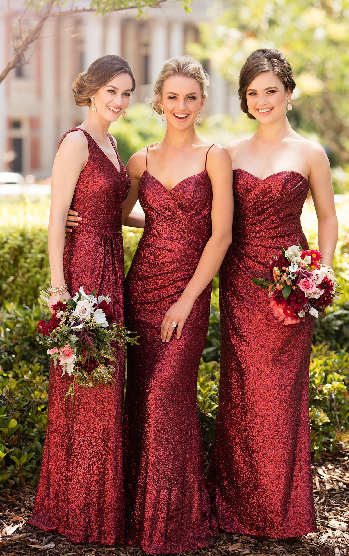 Cranberry sequins bridesmaids dresses from sorella vita wedding cranberry sequins bridesmaids dresses from sorella vita ombrellifo Gallery