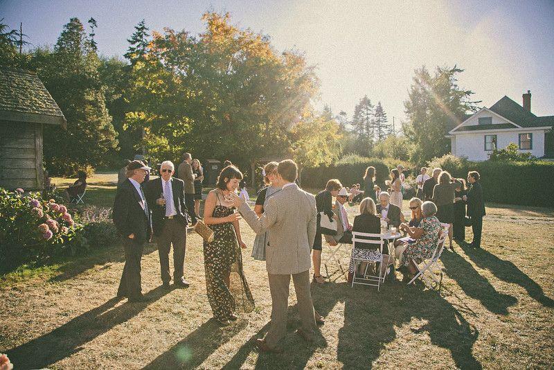 Guests enjoying the Jenne Farm. www.WhidbeyWedding.com