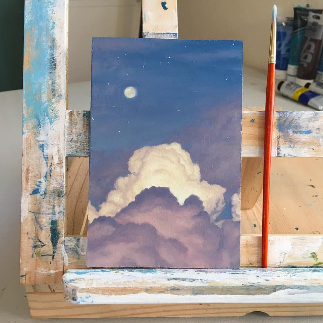 """Emily Mackey on Instagram: """"Out of curiosity, what would you like to see me paint more of? Waves, clouds, portraits, landscapes? I'd love feedback on what people like…"""""""