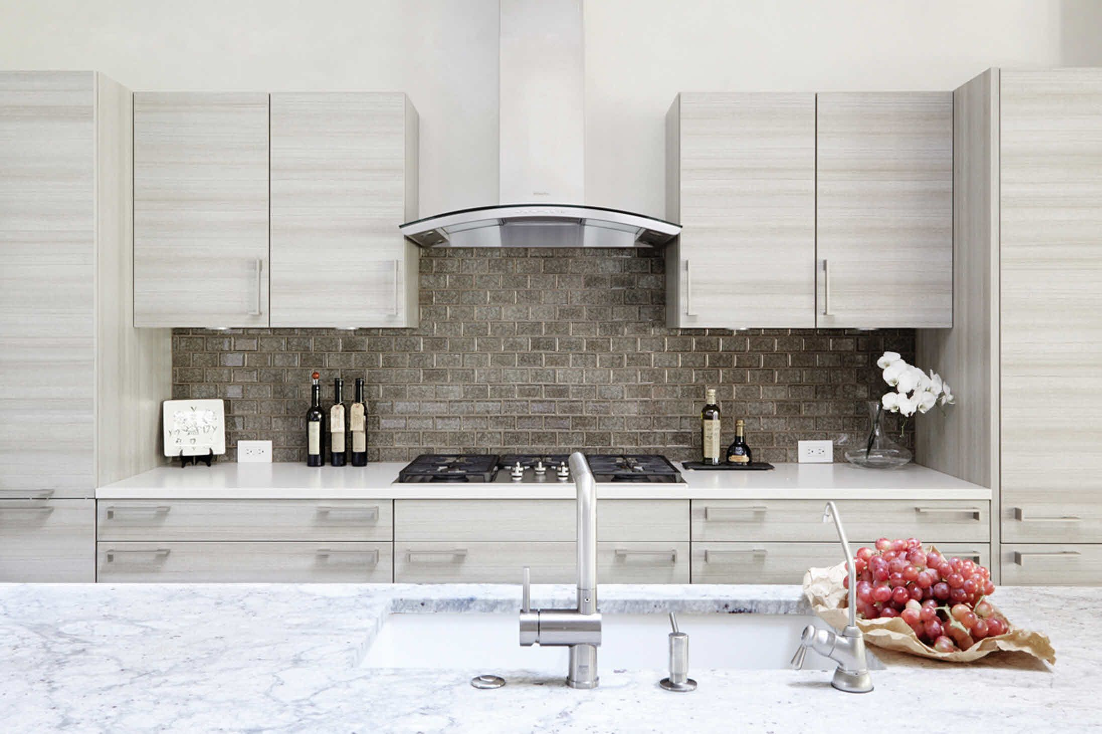 A neutral colour combination in a custom made poggenpohl kitchen