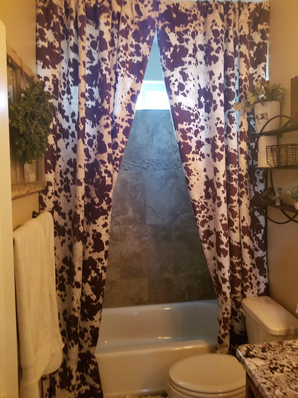 Cowhide Curtain Panels Cowhide Shower Curtain Farmhouse Shower