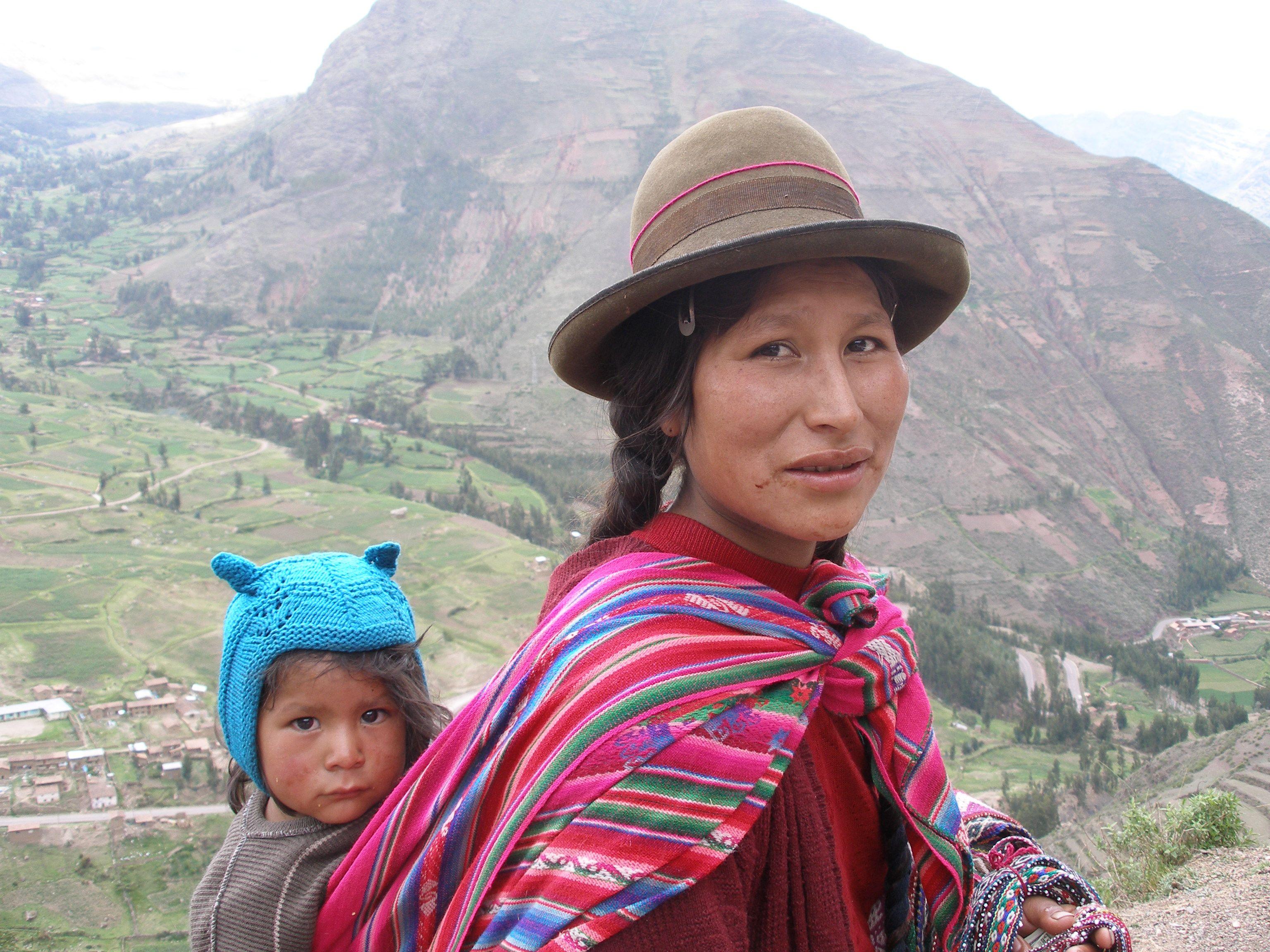 Peru women showing skin