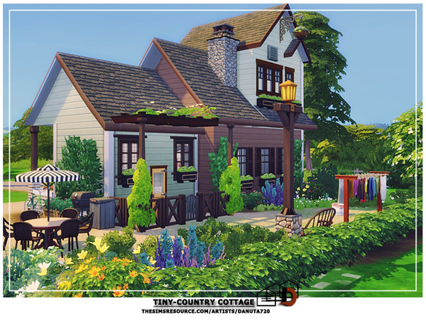 Pin By Jasmine Mccarver On Sims Building In 2020 Country Cottage Small Country Homes Sims Building