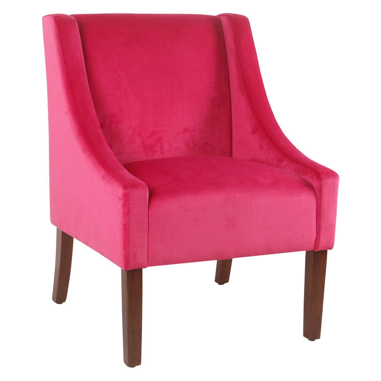 Best Homepop Bright Velvet Swoop Arm Chair Pink In 2019 400 x 300