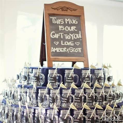 Mason Jar Wedding Favors I Like That They Do The Job Of 3