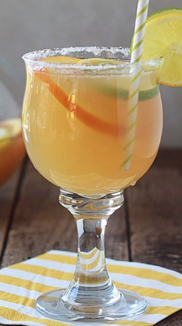 Lemon-Lime Margarita Sangria #limemargarita Lemon-Lime Margarita Sangria Recipe ~ Juicy limes, lemons, and oranges meet with wine and spirits in this refreshing make-ahead drink. #whitewine #wine #winelovers #margarita #sangria #limemargarita