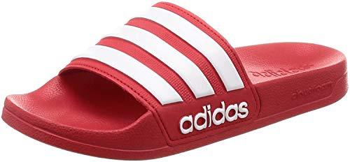Decremento níquel Disciplinario  Adidas Adilette Cloudfoam Slides Chanclas Unisex, Rojo (Scarlet/Footwe en  2020 | Adidas, Zapatillas adidas, Adidas rojos