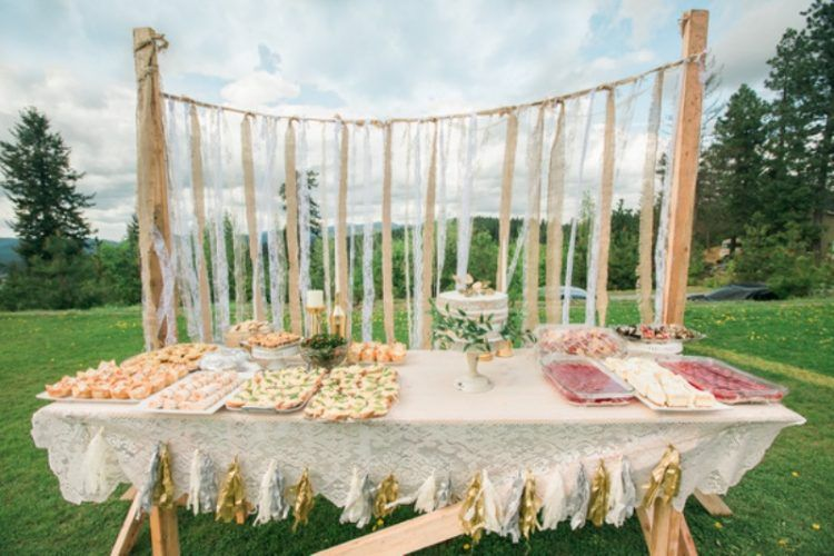 8850f942f978 Fun Bohemian Themed Bridal Shower In The Yard