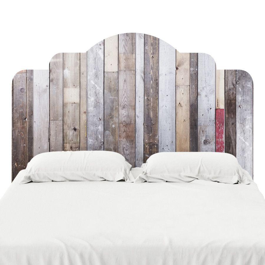 Distressed Barn Wood Headboard Decal Headboard Decal