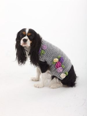 The Lady Who Lunches Dog Sweater Pattern (Crochet)