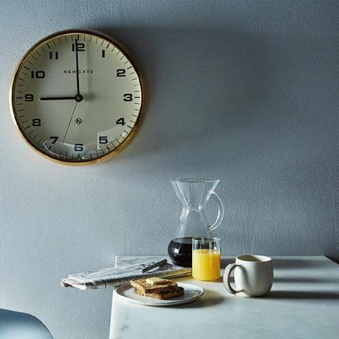 Newgate Clocks Mr Edwards Wall Clock Radial Brass Wall Clock Newgate Clocks Clock