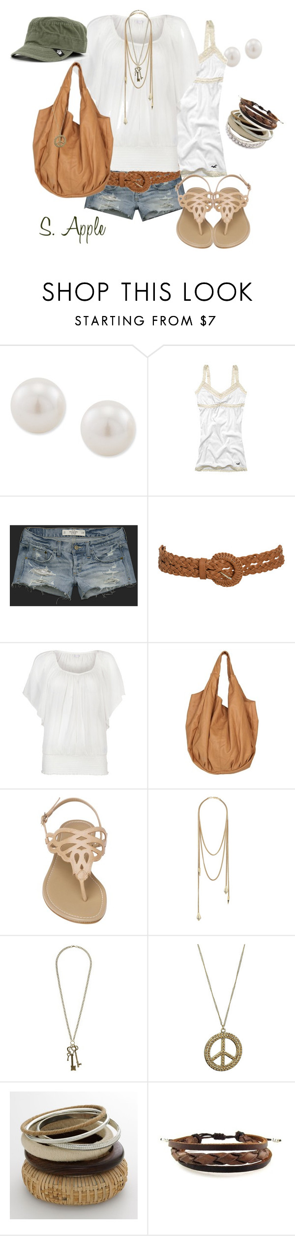 """""""A favorite outfit"""" by sapple324 ❤ liked on Polyvore featuring Carolee, Hollister Co., Abercrombie & Fitch, Wet Seal, Phase Eight, maurices, Miss Selfridge, Sonoma life + style and Goorin"""