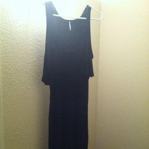 Black maxi dress NWOT NWOT black maxi dress Dresses Maxi