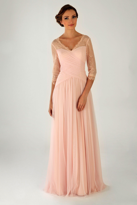 Uzun Kollu Tul Abiye Elbise Olegcassini Com Tr Elbise Nedime Giysileri Moda Stilleri