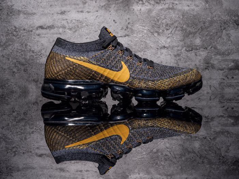 Nike Air VaporMax in Grey and Yellow  sneakers  shoes  kicks  jordan   lebron  nba  nike  adidas  reebok  airjordan  sneakerhead  fashion   sneakerscartel ec134ea599