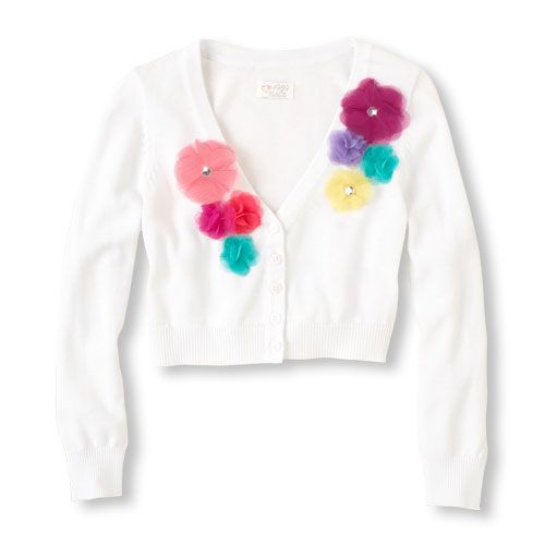 3156b372 multi-rosette cardigan sweater. Multi-rosette cardigan sweater   The  Children's Place ...