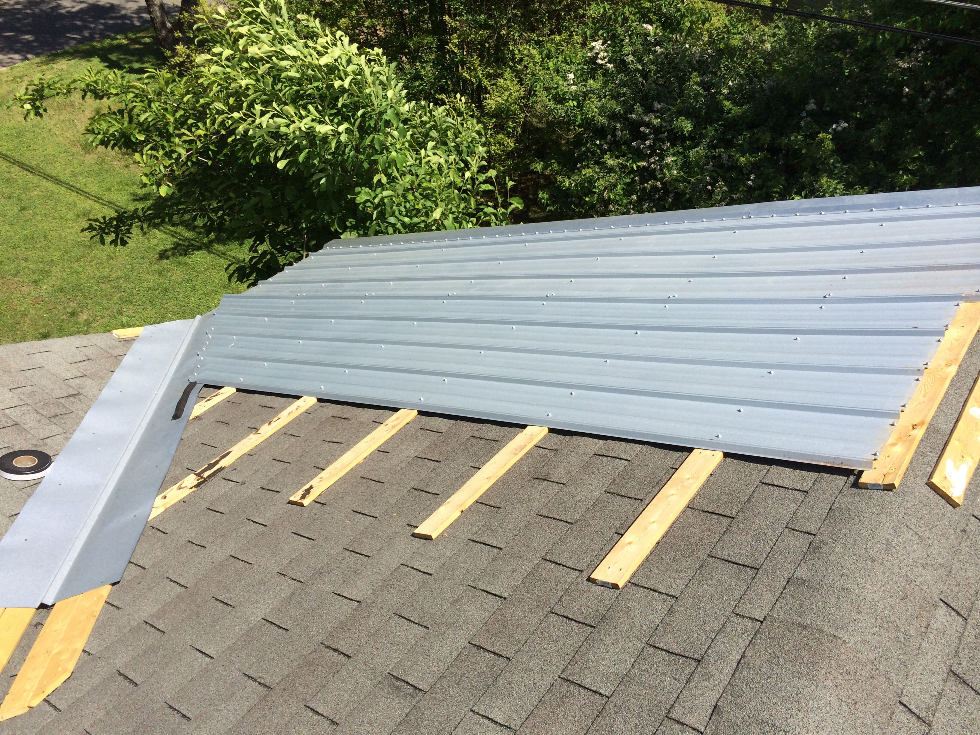 Pin By Christopher Hodges On Metal Roof Galvalume Metal Roof Over Shingles Metal Roof House Exterior