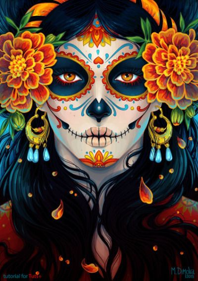dia de los muertos day of the dead calavera sugar skull
