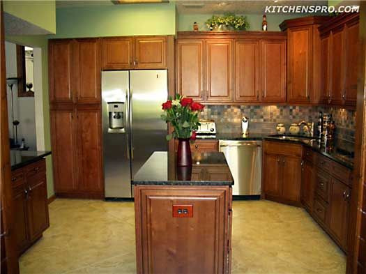black and tan kitchen (espresso maple cabinets from ...