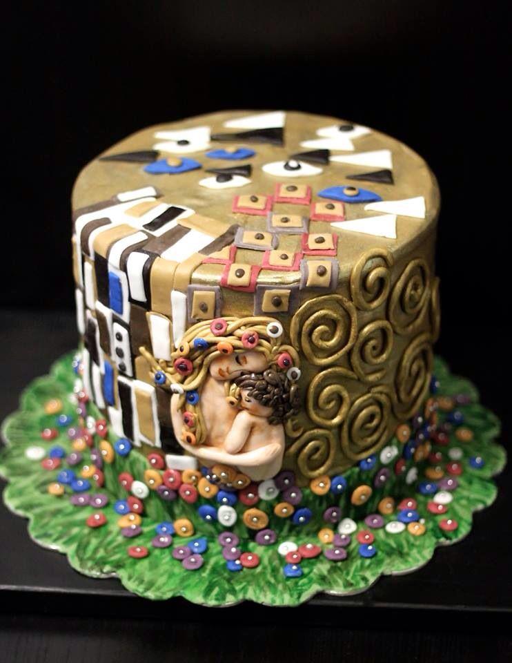 Gustav Klimt Mother And Child Cake I Made This For Mom