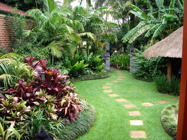 Tropical front yard landscaping sydney open gardens for Garden designs sydney