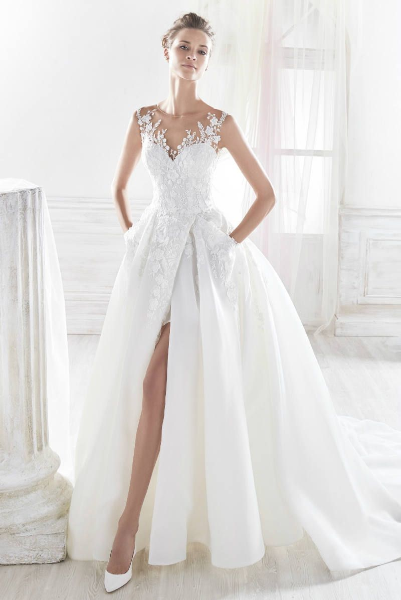 Slit Wedding Dress with Pockets from Nicole Spose 2018 ...