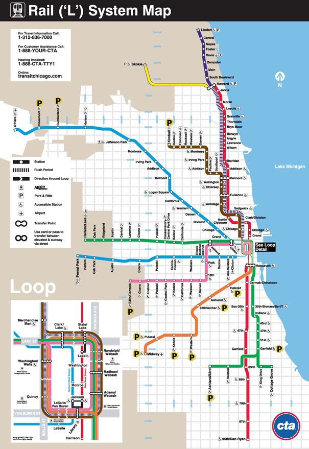 Chicago Cta Parking | 7 Chicago | Chicago map, Chicago ...