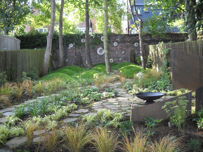 Grass Mounds Eclectic Landscape By London Garden Designer