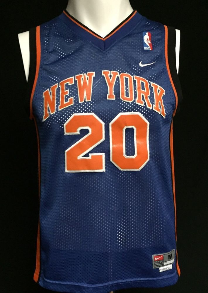 sports shoes 93c25 aaa6d New York Knicks Allan Houston Nike Sewn Letters Youth Medium ...