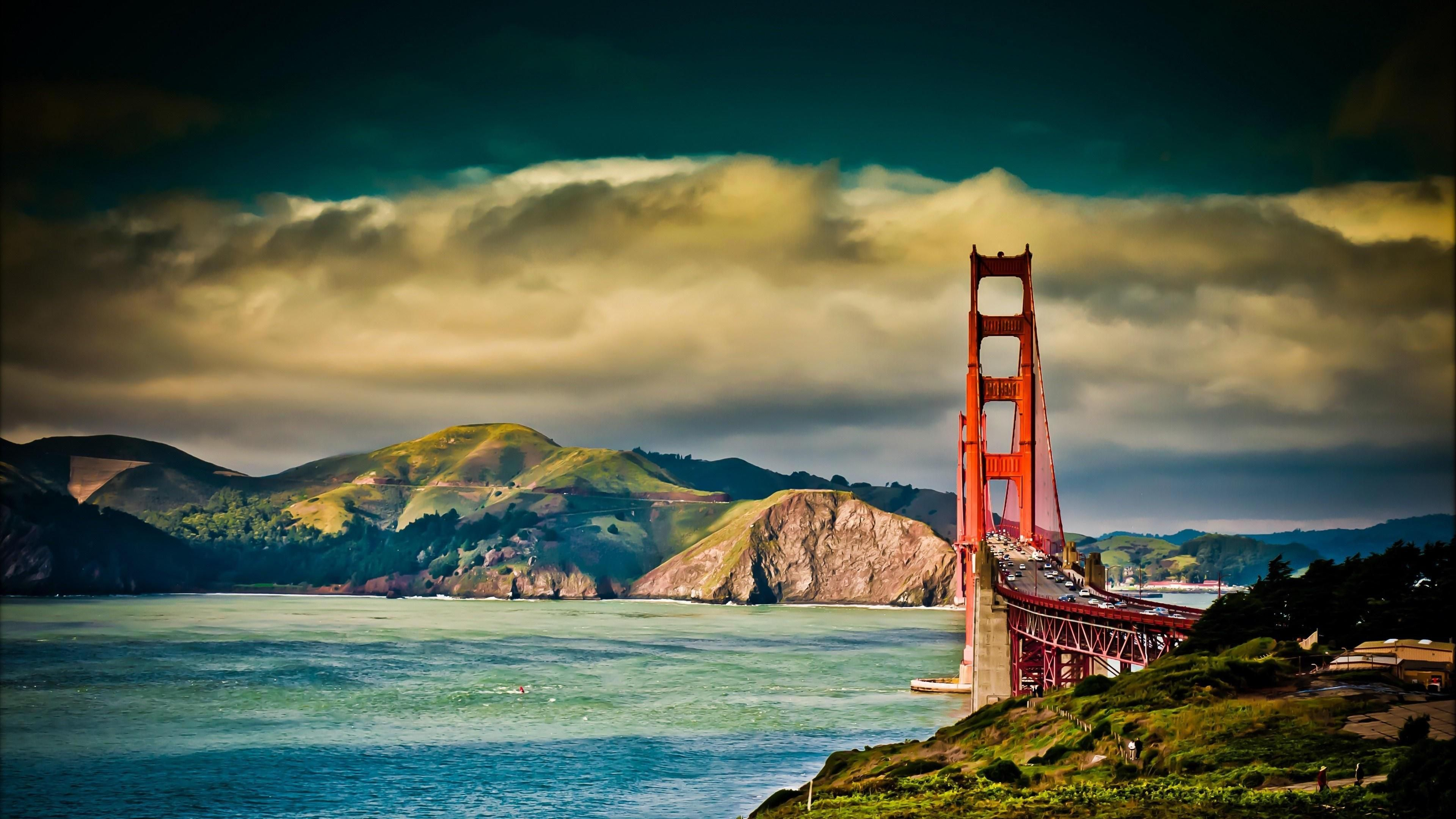 Nature Mountains View Wallpaper Golden Gate Golden Gate Bridge San Francisco Bridge