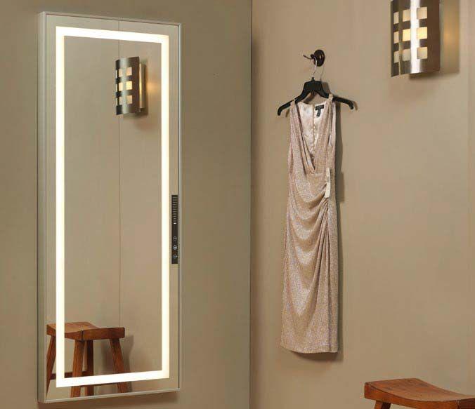 Icon International 42 X 76 Scene Setter Fitting Room Mirror Led Lighted Anodized Aluminum Finis In 2020 Dressing Room Mirror Dressing Mirror Contemporary Wall Lights