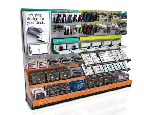 Office Depot Stapler In Store Retail Display Shelves