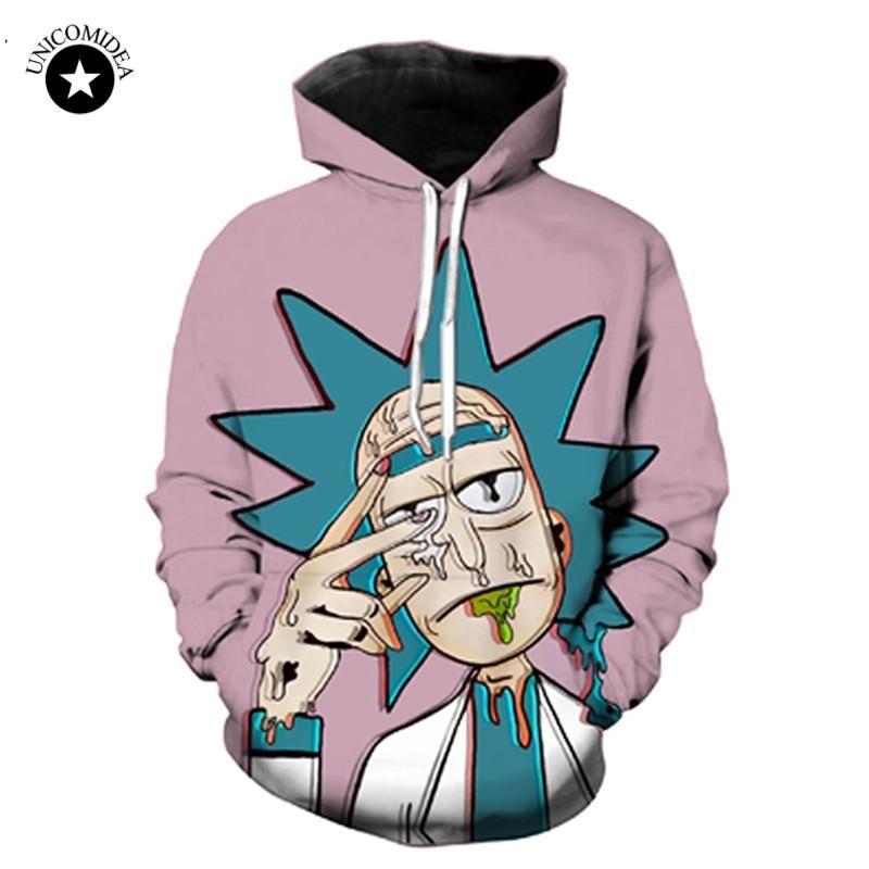 4d039ea5e Unicomidea Rick And Morty Cartoon Hoodies 3d Hoody Sweatshirt Men Women  Streetwear Psychedelic Tops Hip Hop