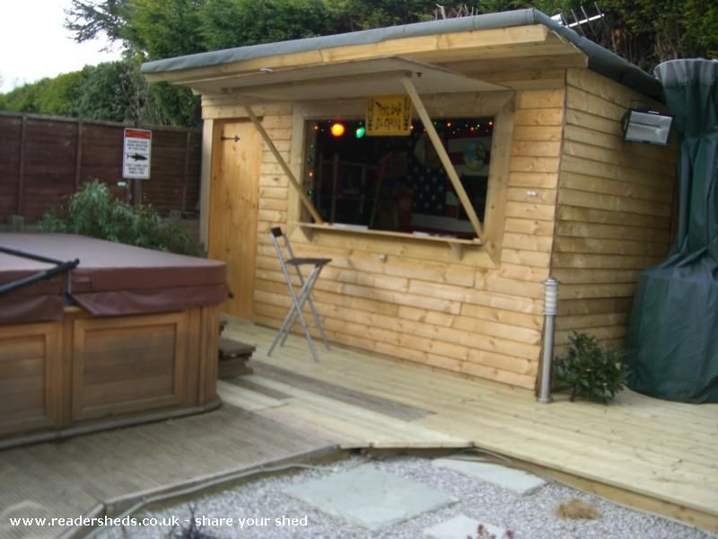 Bar shed yahoo search results sheds pinterest bar for Pool shed with bar plans